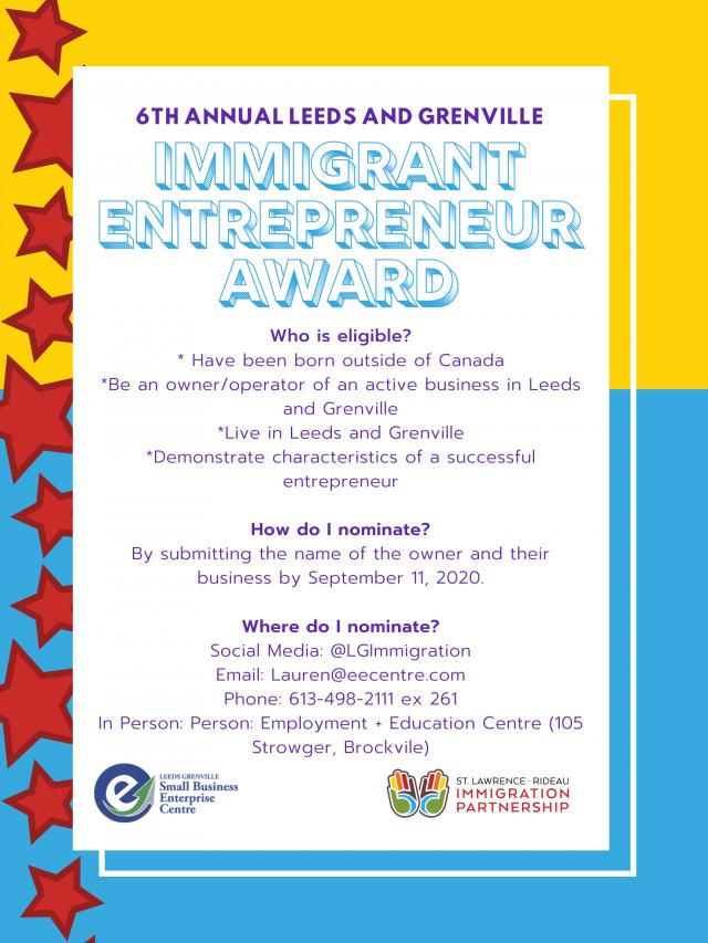 Copy of Immigrant Entrepreneur Award